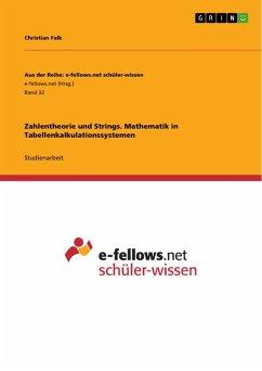 Zahlentheorie und Strings. Mathematik in Tabellenkalkulationssystemen (eBook, PDF)