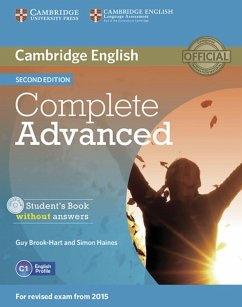 Complete Advanced - Second edition. Student's Book without answers with CD-ROM