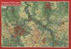 Reliefpostkarte Kassel, Göttingen & Unteres Werratal