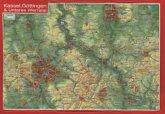 Kassel, Göttingen & Unteres Werratal, Reliefpostkarte