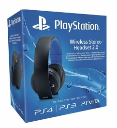 Sony Wireless Stereo Headset 2.0 - Schwarz (für PlayStation 3, PlayStation 4, PSV)