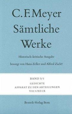 Sämtliche Werke. Historisch-kritische Ausgabe 05. Gedichte - Meyer, Conrad Ferdinand