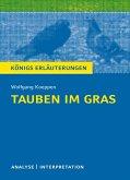 Tauben im Gras von Wolfgang Koeppen. Textanalyse und Interpretation mit ausführlicher Inhaltsangabe und Abituraufgaben mit Lösungen. (eBook, PDF)