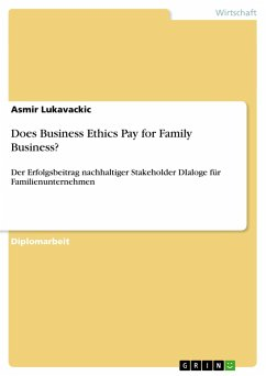 Does Business Ethics Pay for Family Business?