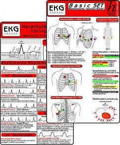 EKG Basic Set (er Set) - Herzrhythmusstörungen, EKG Auswertung - Medizinische Taschen-Karte