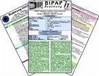 BIPAP Beatmungs-Karten-Set, 3 Medizinische Taschen-Karten