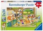 Ravensburger 09195 - Fröhliches Landleben, Puzzle 2 x 24 Teile