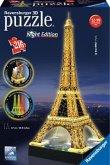 Ravensburger 12579 - Eiffelturm bei Nacht - 3D-Puzzle-Bauwerk, Night Edition, 216 Teile