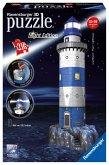 Ravensburger 12577 - Leuchtturm bei Nacht, 216 Teile - 3D-Puzzle-Bauwerk Night Edition