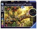 Ravensburger 16183 - Goldene Leoparden, 1200 Teile Color Starline Puzzle