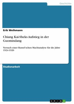 Chiang Kai-Sheks Aufstieg in der Guomindang (eBook, PDF)