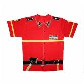 Kid's Shirt Kinder Feuerwehr T-Shirt rot Uniform - Gr. 134