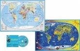 Kinderweltkarte/Erde politisch, DUO-Schreibunterlage klein, m. Audio-CD