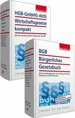 BGB Bürgerliches Gesetzbuch; HGB, GmbH, AktG, Wirtschaftsgesetze kompakt, 2 Bde.