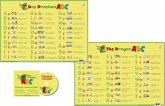Drachen-ABC - DUO-Schreibunterlage klein mit Musik-CD