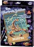 Tierkreiszeichen Skorpion / Malen nach Zahlen auf Leinwand (Mal-Sets), Bildgröße: 18 x 24 cm