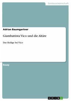 Giambattista Vico und die Altäre - Baumgartner, Adrian