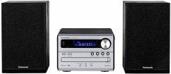 Panasonic SC-PM 250 EG-S Micro HiFi-System (CD-Spieler, Radio, Bluetooth, USB, Uhr/Timer) silber