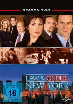 Law & Order: New York - Special Victims Unit - Season 2 DVD-Box - Christopher Meloni,Mariska Hargitay,Richard...