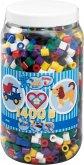 HAMA Bügelperlen Maxi - Vollton Mix 1400 Perlen (6 Farben) in Aufbewahrungsdos