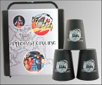 FlashCups FLA01017 - FlashCups-Set, MonsterLine Set, Speed Stacking, mit Lunchbox und DVD, 12 Stück, schwarz