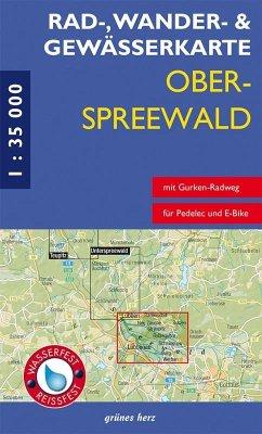 Rad-, Wander- und Gewässerkarte Oberspreewald; .