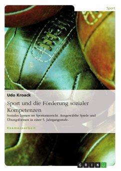 Sport und die Förderung sozialer Kompetenzen (eBook, ePUB)