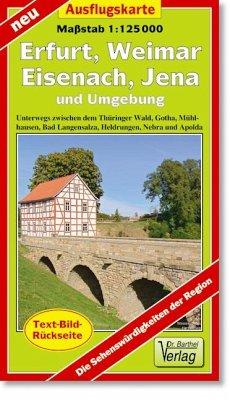 Doktor Barthel Karte Erfurt, Weimar, Eisenach, ...