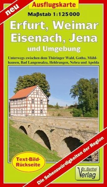 Karte Weimar Und Umgebung.Doktor Barthel Karte Erfurt Weimar Eisenach Jena Und Umgebung