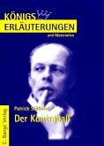 Der Kontrabaß von Patrick Süskind. Textanalyse und Interpretation. (eBook, PDF)