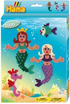 Hama 3431 - Perlenset Meerjungfrau, circa 2000 Bügelperlen, 1 Stiftplatte und Zubehör