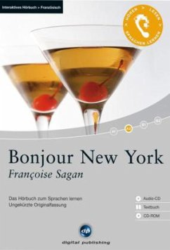 Bonjour New York, 1 Audio-CD + 1 CD-ROM + Textbuch - Sagan, Françoise
