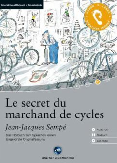 Le secret du marchand de cycles, 1 Audio-CD + 1 CD-ROM + Textbuch - Sempé, Jean-Jacques