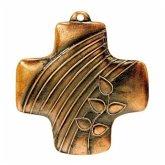 """Wandkreuz aus Bronze """"Zeichen der Liebe"""""""