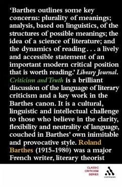 Criticism and Truth (eBook, PDF) - Barthes, Roland