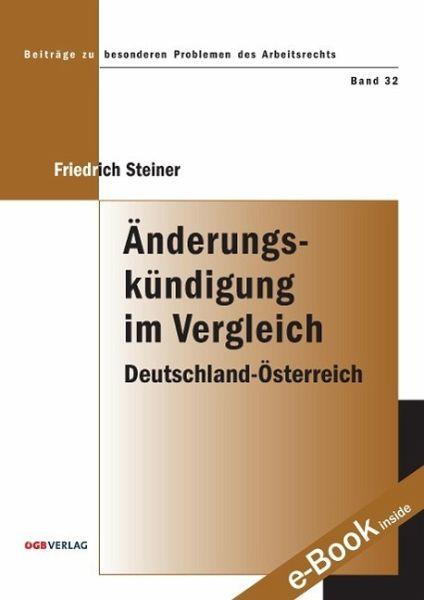 änderungskündigung Im Vergleich Von Friedrich Steiner Fachbuch