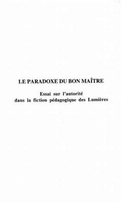 PARADOXE DU BON MAITRE (eBook, PDF)