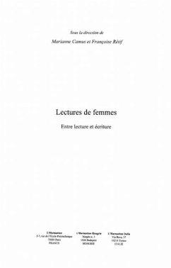 Lectures de femmes. entre lectures et ec (eBook, PDF)