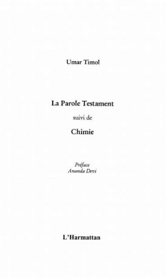 Parole Testament suivi de Chimie La (eBook, PDF)