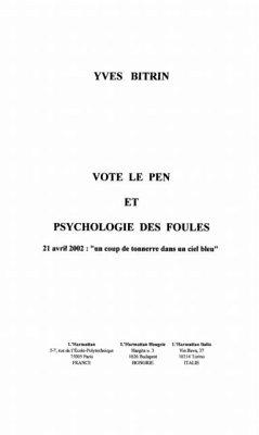 Vote le pen et psychologie desfoules (eBook, PDF)