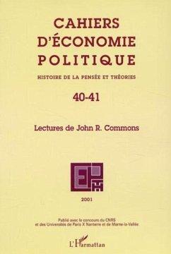 LECTURES DE JOHN R. COMMONS (eBook, PDF) - Collectif