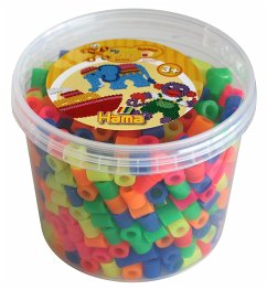 Hama 8572 - Maxi Perlen Dose, ca. 600 Bügelperlen, neon gemischt