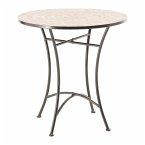 Outdoor-Tisch Kemo Schwarz/Beige