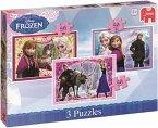 Jumbo 17441 - Disney Frozen Trio - 3in1 Puzzle, 3x50 Teile