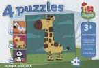Wilde Tiere (Kinderpuzzle), 4 in 1