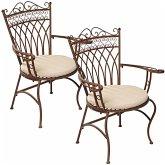 Outdoor-Stuhlset, 2-tlg. Versailles