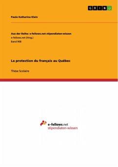 La protection du français au Québec (eBook, PDF)