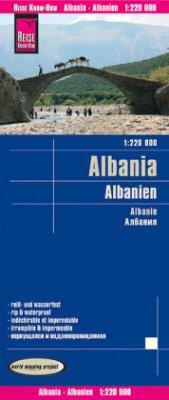 World Mapping Project Albanien; Albania; Albanie