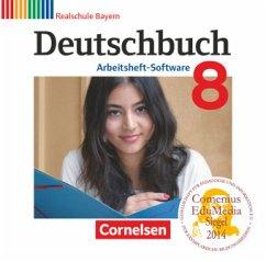 8. Jahrgangsstufe, Arbeitsheft-Software, CD-ROM / Deutschbuch, Realschule Bayern