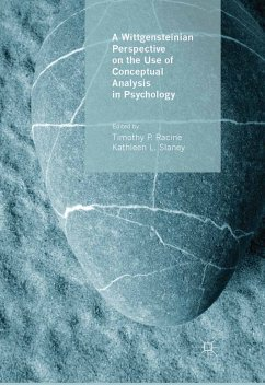 A Wittgensteinian Perspective on the Use of Conceptual Analysis in Psychology (eBook, PDF)